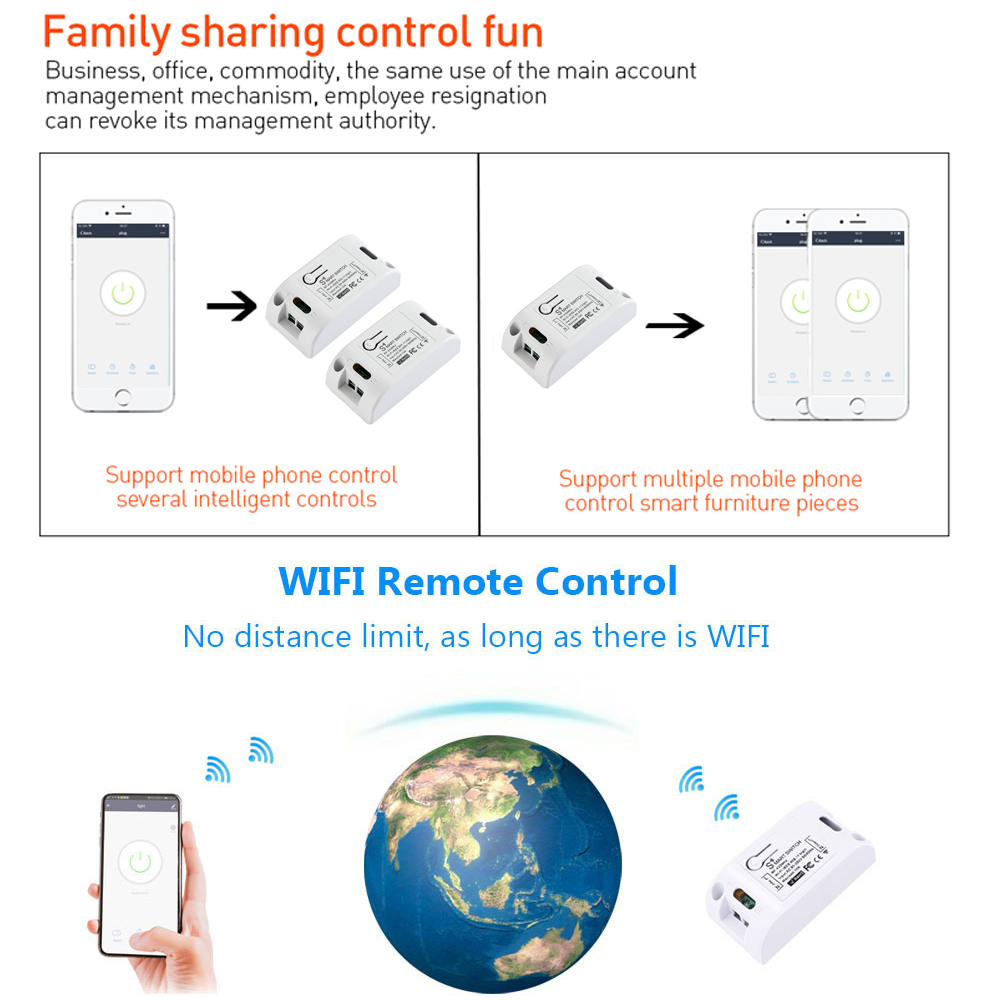 H31e8e5ff4e4e48cca3a82db0ff22f873q - Rubrum WiFi Push Switch Light 433Mhz Wall Remote Relay Timer Module Automation Tuya Smart Life APP For Google Home Amazon Alexa