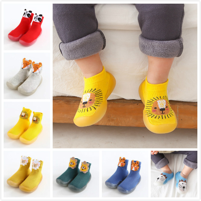 Baby Toddler Socks Girls Toddler Shoes Boys Shoes Non-slip Fogex Tir Thickening Shoes Sock Floor Shoes Foot Socks Animal Style