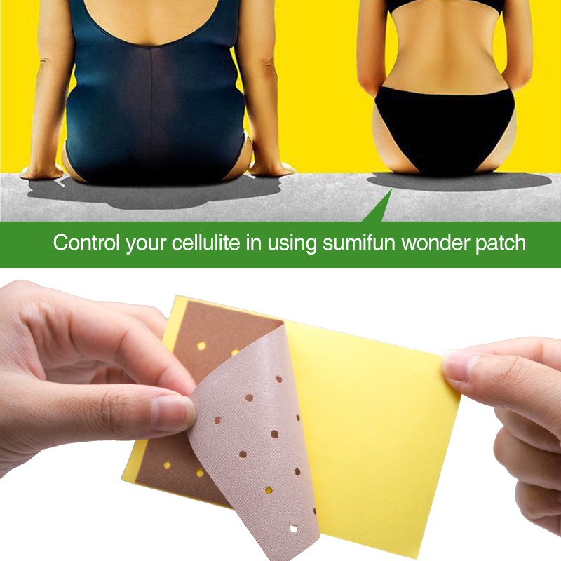 Sumifun 10pcs/Bag Slimming Patch Hot Body Slim Patches Slim Navel Stick Diet Products Weight Loss Burning Fat Patches K04201