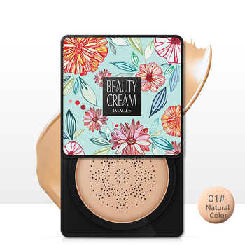 BB Air Cushion Foundation Mushroom Head CC Cream Concealer Whitening Makeup Cosmetic Waterproof Brighten Face Base Tone 5