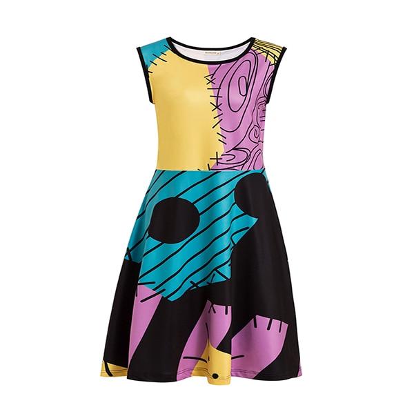 Платье принцессы для взрослых; одинаковый семейный маскарадный костюм «Минни Маус и я»; женское платье принцессы в горошек; большие размеры - Цвет: nightmare