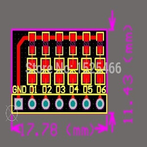 Image 2 - 5pcs DC 3 12V 6 bit Multicolor LED Module Board for Arduino DUE UNO MEGA2560 MEGA  Leonardo Tre Zero Ethernet Shield 3d printer