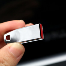 Super mini impermeabile USB flash drive 64GB del metallo Pendrive USB ad alta velocità del bastone 128G 32GB drive reale capacità 16GB 8GB USB(China)