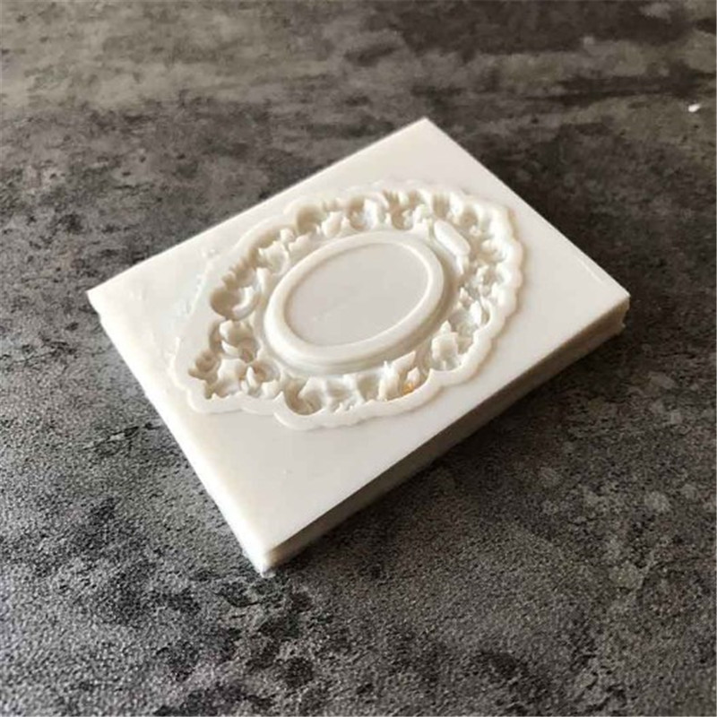Nice Border European Relief Silicone Mold Fondant Mold Frame Mirror Cake Decorating Tools Chocolate Gumpaste Mold M207