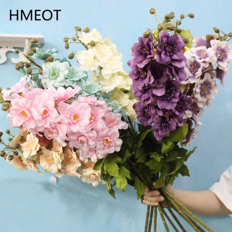 80cm 21 têtes longue fleur artificielle branche Delphinium plantes vertes chambre décoration de la maison bricolage mariage fleur Arrangement matériaux