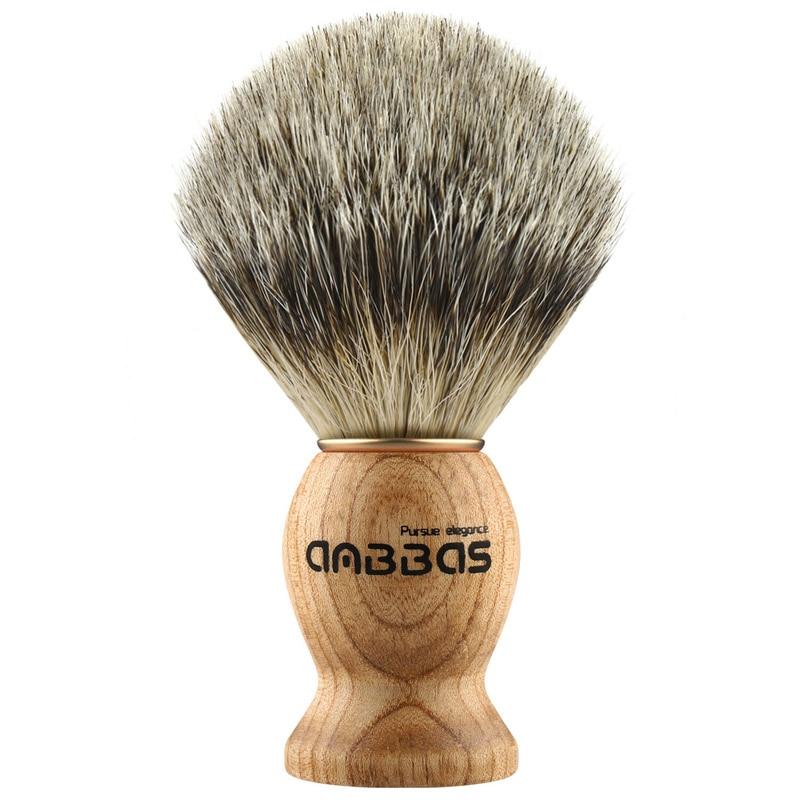 New Anbbas Portable Faux Badger Hair Shaving Brush Travel Style, Aluminum Frame For Men Gift