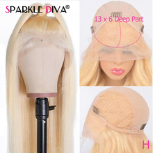 613 Blonde Lace Front Human Hair Wigs 13x6 Deep Part Brazili