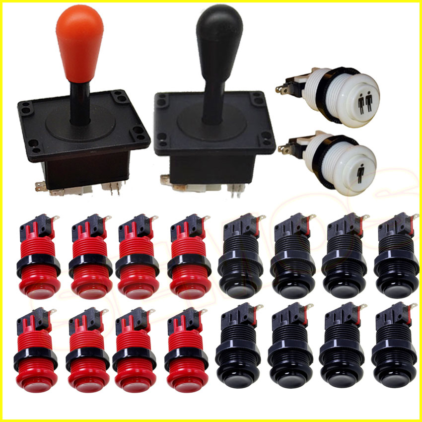 Happ Type Arcade Joystick Button DIY Kit for Jamma Mame Arcade Sticker Push Button for Raspberry Pi|Coin Operated Games|   - AliExpress