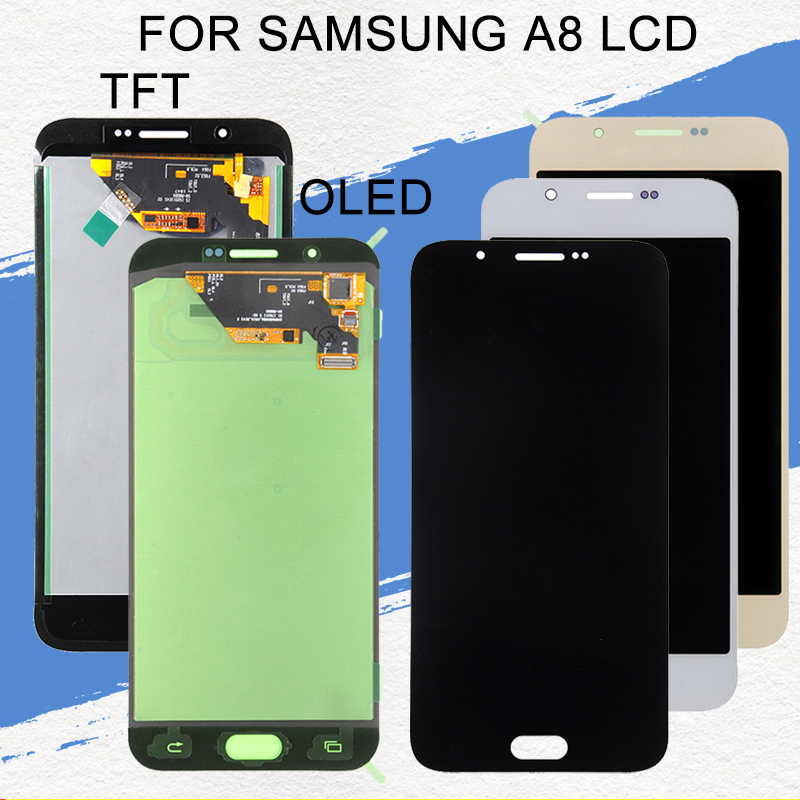 Dinamico OLED A800 Lcd For Samsung Galaxy <font><b>A8</b></font> 2015 Lcd A8000 A800F <font><b>A8</b></font> <font><b>Display</b></font> With Touch Screen Digitizer Assembly With Tools image