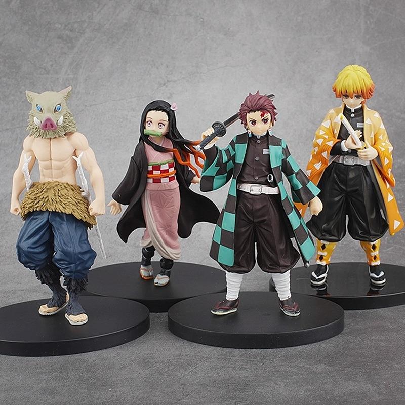 16cm Anime Demon Slayer Kimetsu No Yaiba Kamado Tanjirou Nezuko Inosuke Agatsuma Zenitsu Tomioka Giyuu Action Figure Model Toys