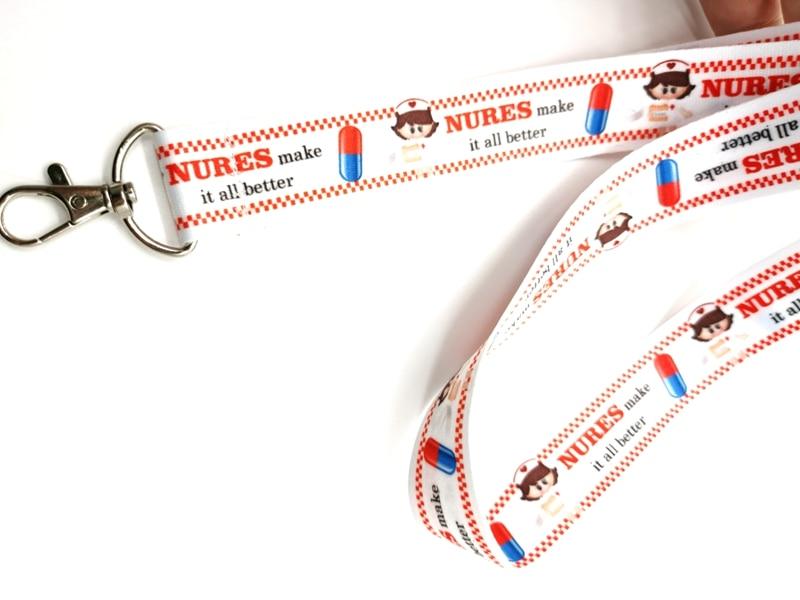 New cartoon Nurse  Neck Strap Lanyards  Badge Holder Rope Pendant Key Chain Accessorie