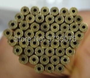 Single Hole Brass Tube 1 Hole 0.3 0.4 0.5 0.6 0.7 0.8 0.9 1.0*400 Electrode Tube EDM Tube For Small Hole Drilling Edm