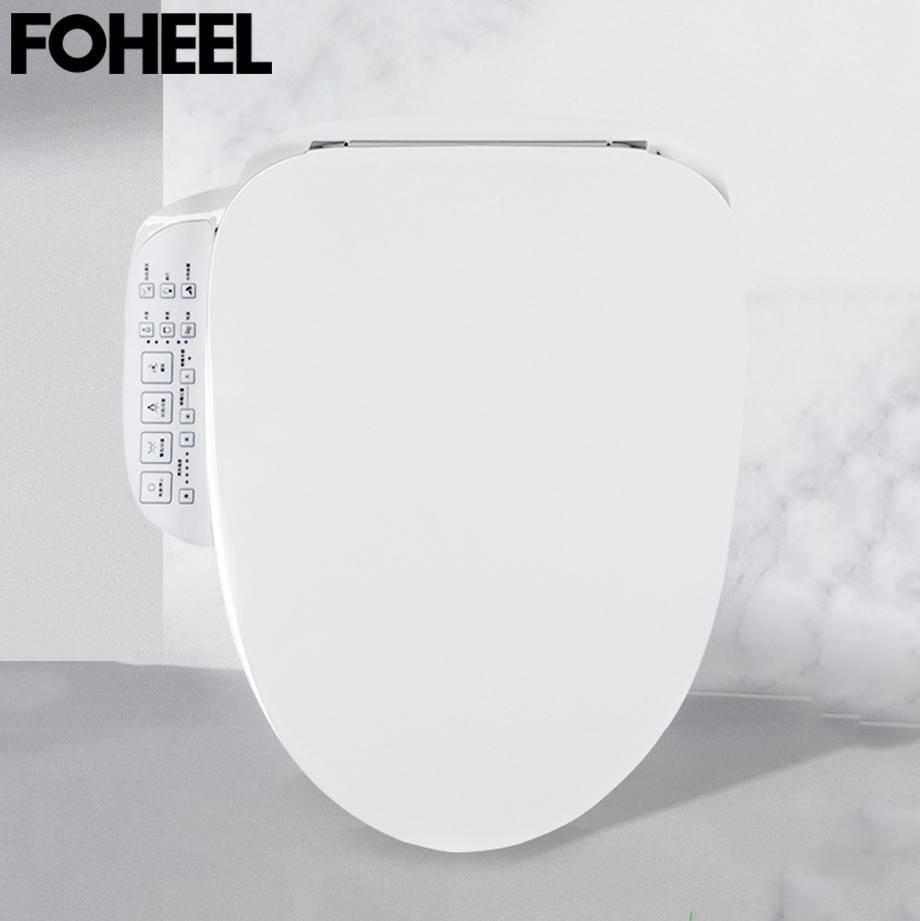 FOHEEL Electric Bidet Cover Led Light Wc Heated Toilet Seat Cover  Smart Toilet Seat Intelligent Toilet  FWT07