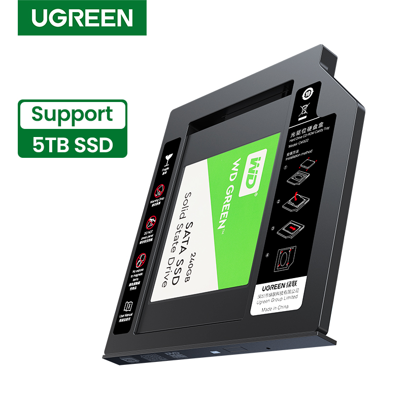 Ugreen SSD HDD Caddy 9.5/7mm SATA USB 3.0 2.5