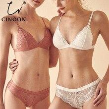 CINOON Women Lace Bra Set Lingerie Set Sexy Women Underwear