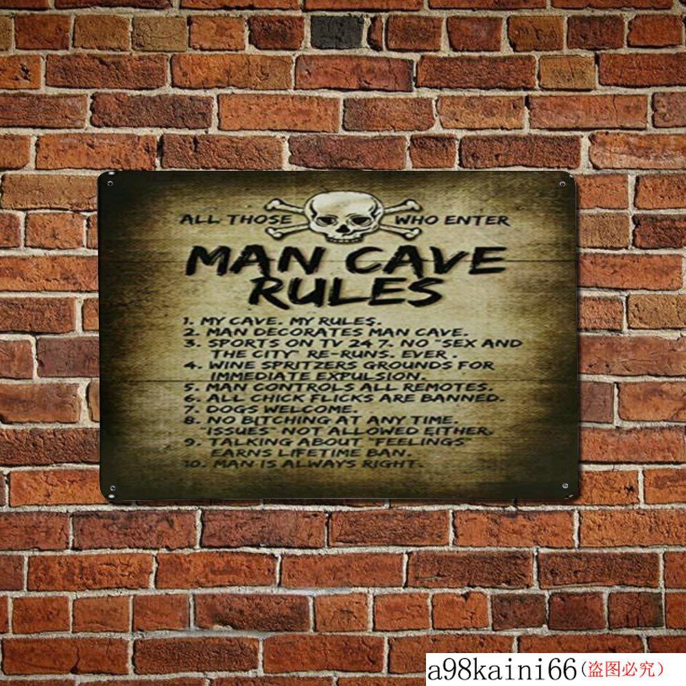 """Man Cave Bar Metal Aluminum 8/"""" x 12/"""" Wall Sign Plaque New"""