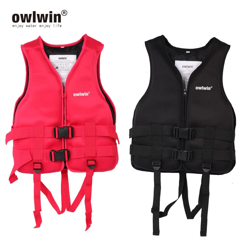 Owlwin Adult Children Life Vest Jacket Swimming Boating Skiing Driving Ski Vests With Pipe Water Sports Man Life Jacket