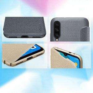 Image 5 - Nillkin Sparkle skórzane etui do Xiaomi Mi A3 /A3 Lite twardy PC pokrywa dla Xiaomi Mi CC9 CC9E odwróć skrzynki pokrywa Mi 9 Lite Mi9 Coque