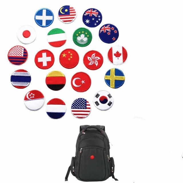 Malesia Australia Giappone Germania Italia Turchia Thailandia Francia Usa Corea Bandiera Svizzera Ricamato Toppe E Stemmi per Abbigliamento Distintivi E Simboli