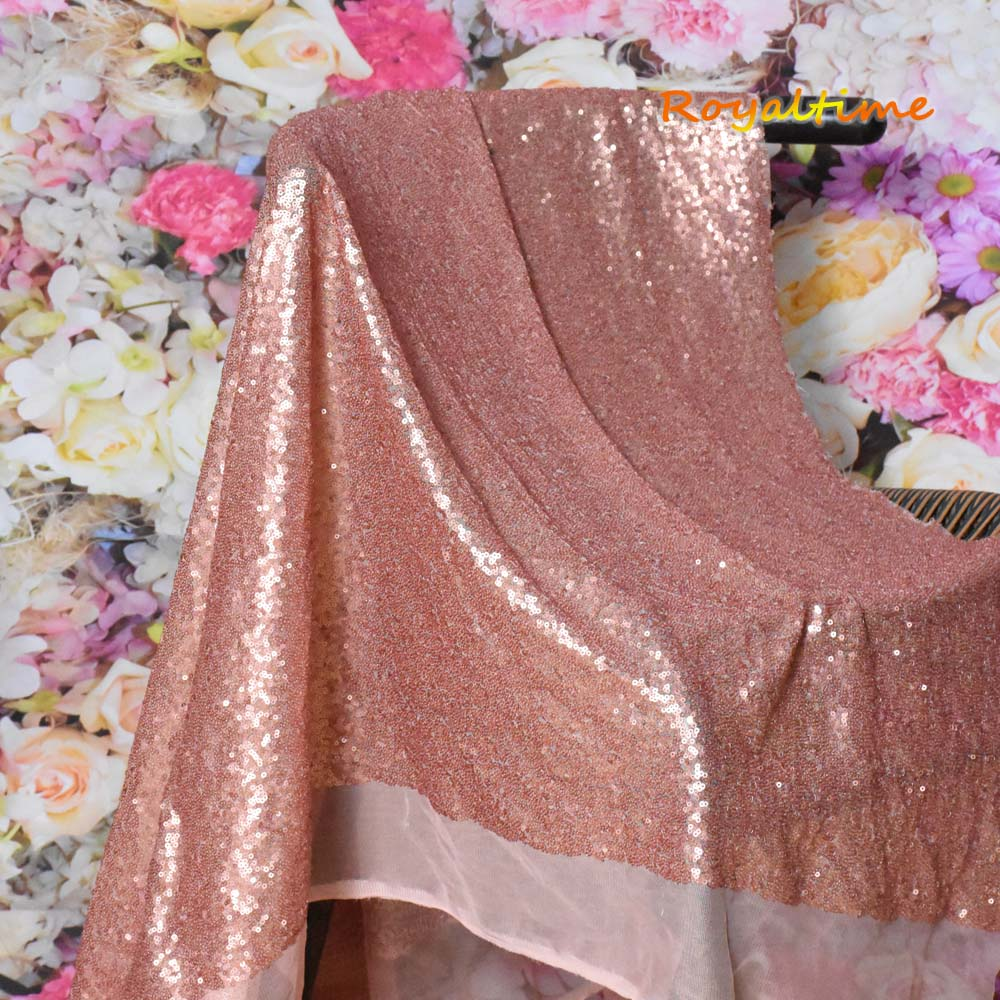 Blush Sequin Fabric 004