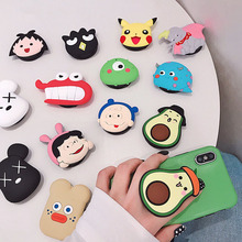 Kingqiu Universal Phone Stand Bracket Expanding Stand stretch grip phone Holder Finger Cute Cartoon Stand for iphone 8 X universal phone stand bracket expanding stand stretch grip phone holder finger cute cartoon stand for iphone xiaomi samsu