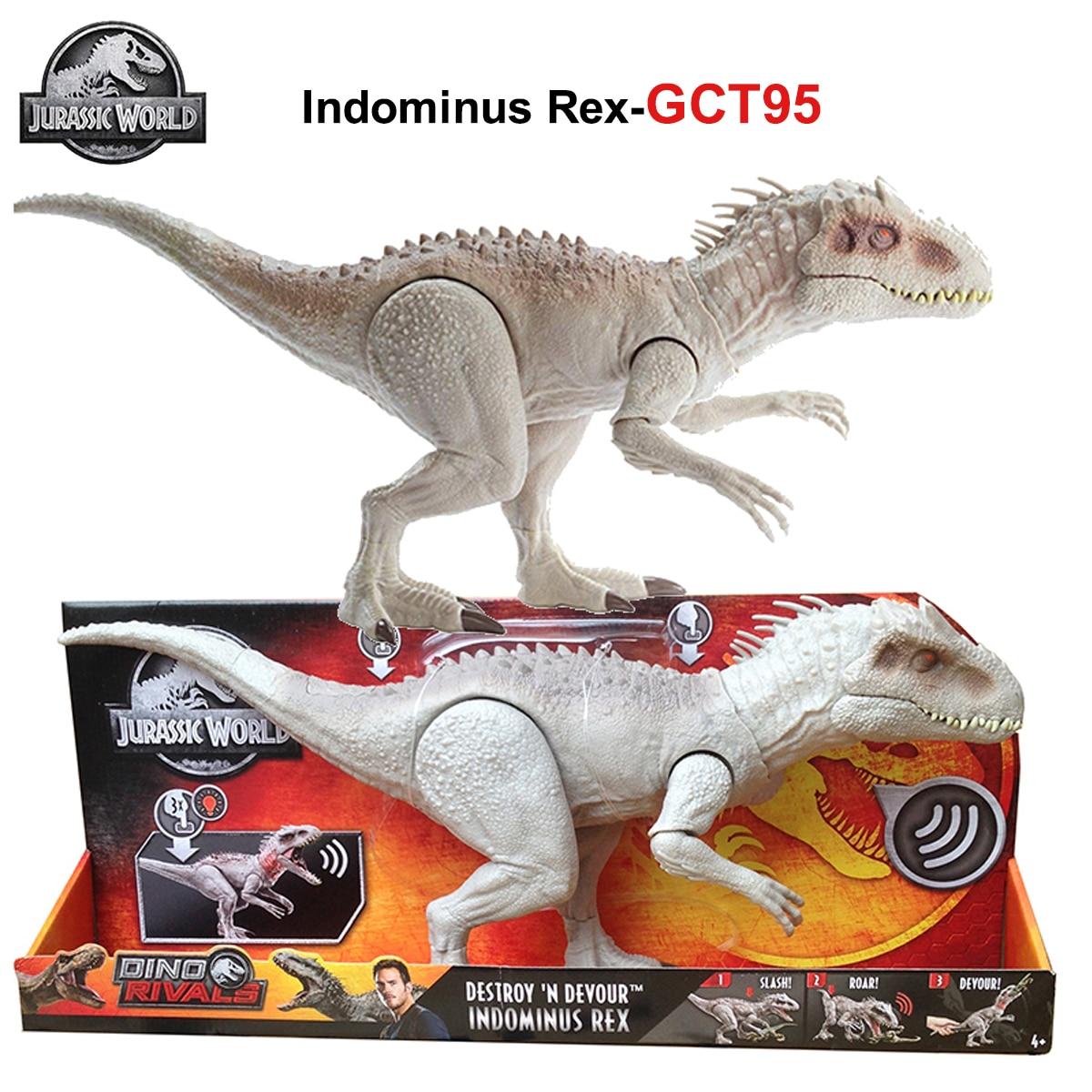 Jurassic World Indominus Rex Dinosaur Toy Tyrannosaurus Biting Movement Ferocious Sound Effect Toys for Kids Birthday Gift GCT95