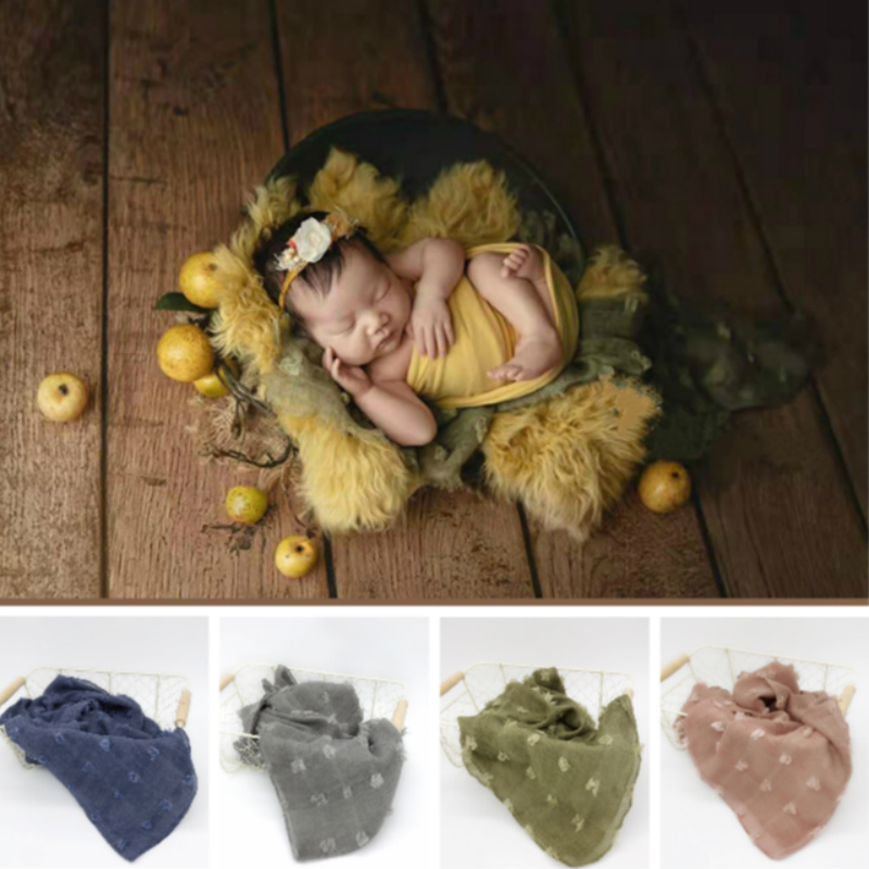 Newborn Photography Props Retro Baby Background Blankets Infant Wraps Studio New Accessories Baby Shoot Decorative Blankets