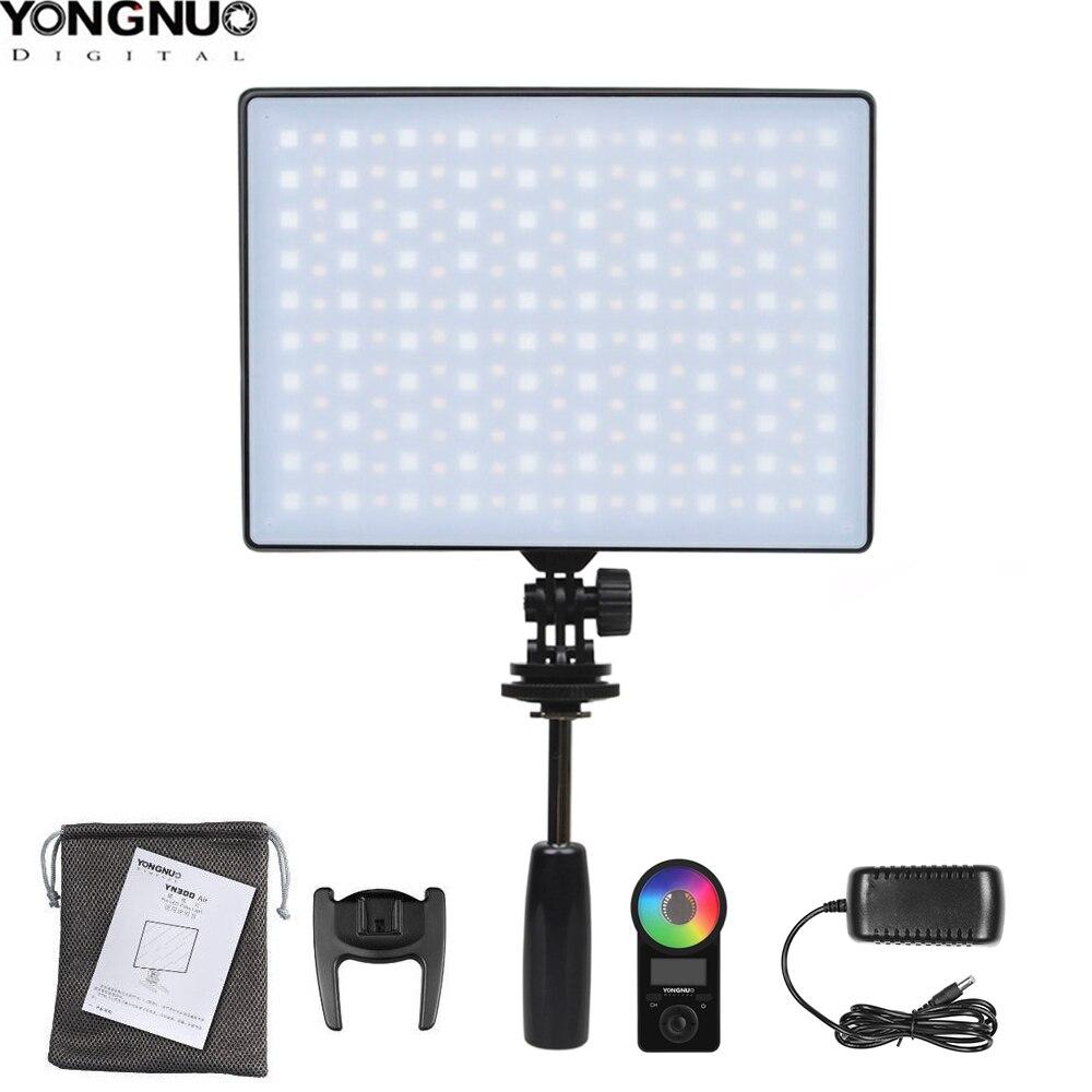 Светодиодная лампа для видеосъемки YONGNUO YN300 Air II YN300air II YN-300 air Pro 3200k-5500k цветная (RGB) светодиодная Камера видео светильник для цифровой зеркальн...