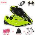 Boodun профессиональная велосипедная обувь из углеродного волокна для мужчин  гоночный дорожный велосипед  Ультралегкая дышащая обувь  самоз...