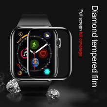 Wodoodporny ekran ochronny do apple watch 5 4 3 44MM 42MM 40MM 38MM (nie hartowane miękkie szkło) film do Iwatch 4 5 6 SE cheap CN (pochodzenie) Odporne na zarysowania