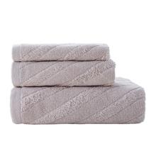3 Pcs Breathable Absorbent Bathroom Beach Bath Sheet Face Towel Square Towel Set P9YB cheap CN(Origin) Combed Cotton 555g Solid 100 Cotton