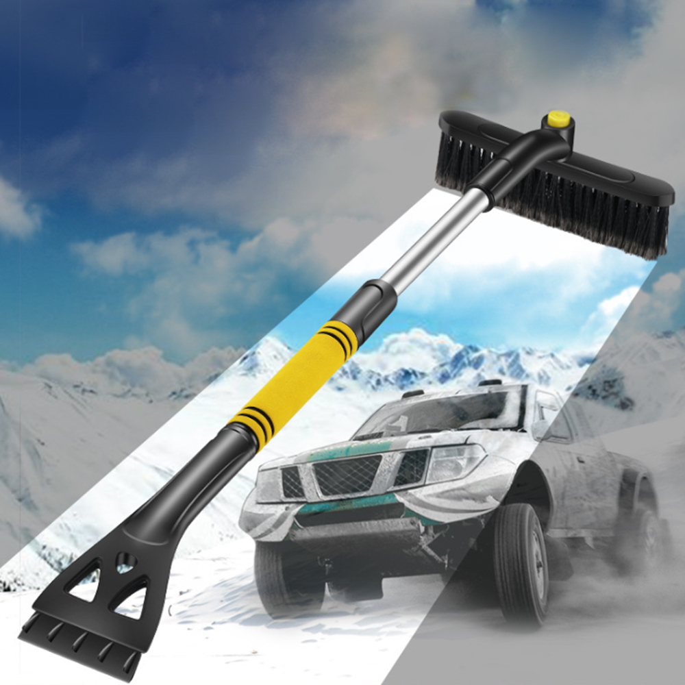 Multifunction Winter Car Snow Shovel Extendable Telescoping Rod Snow Brush Shovel Window Windscreen Windshield Ice-Scraper Tools