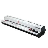 220V 300W Photo Document Paper A3 A4 Laminating Film Machine Cold/Hot Laminator Knob Operating Temperature 400mm/min