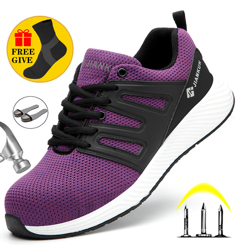 Легкие защитные ботинки для мужчин и женщин, непрокалываемые сапоги, стальной носок, Антистатические Рабочие ботинки 6 кВ, Мужская Рабочая о...