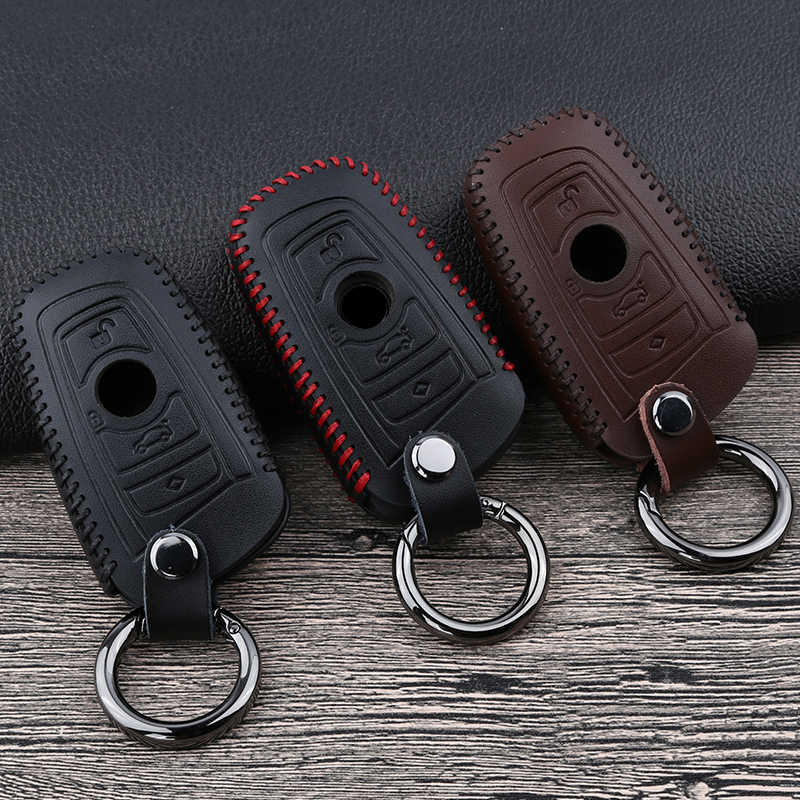 Leather Remote Key Cover Case For BMW 5 E90 F10 F20 F30 X3 X4 M2 M3 M5 M6 for BMW 1 3 4 5 6 7 series GT NEW ARRIVAL