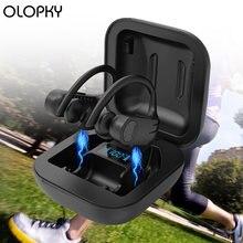 Фитнес Беспроводной bluetooth наушники светодиодный Дисплей