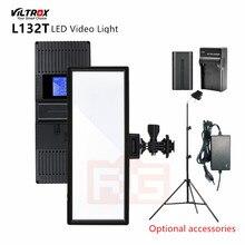 Viltrox L132T LED Video Light Ultra Thin LCD Display Bi-Color Dimmable DSLR Studio Lighting Lamp Panel for Makeup Vlog TiKTok