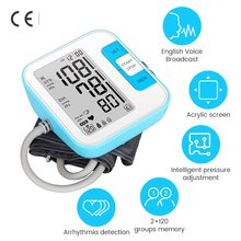 Upper Arm Blood Pressure Tonometer Digital Arm Blood Pressure Monitor Smart Blood Tensiometers for Measuring Arterial Pressure