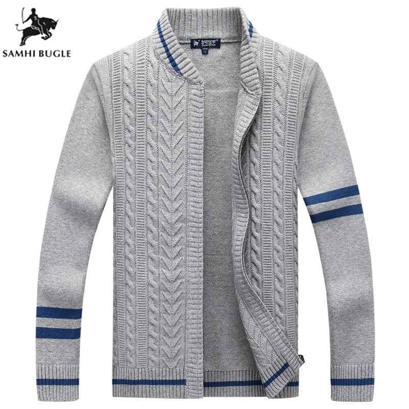 Mens Sweaters for 2019 Autumn Winter Men's Cardigans Sweaters Casual Clothes For Men Zipper Pull Homme Warm Knitwear Sweater