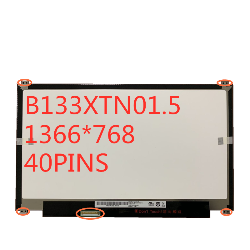 o Envio Gratuito de 13.3 B133xtn01.5 para Samsung Polegada Tela B133xtn01.5 Portátil Led Lcd Np905s3g 915s3g