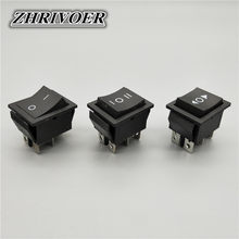 Kcd4 6 pinos preto rocker switch on-off-on 2/3 posição 16a 250vac/20a 125vac auto-reset/momentarypower switch