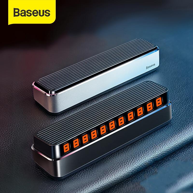 Baseus para estacionamiento temporal de coche tarjeta teléfono número titular Auto Park Mobile PLACA DE NÚMERO DE TELÉFONO pegatinas de números de coche
