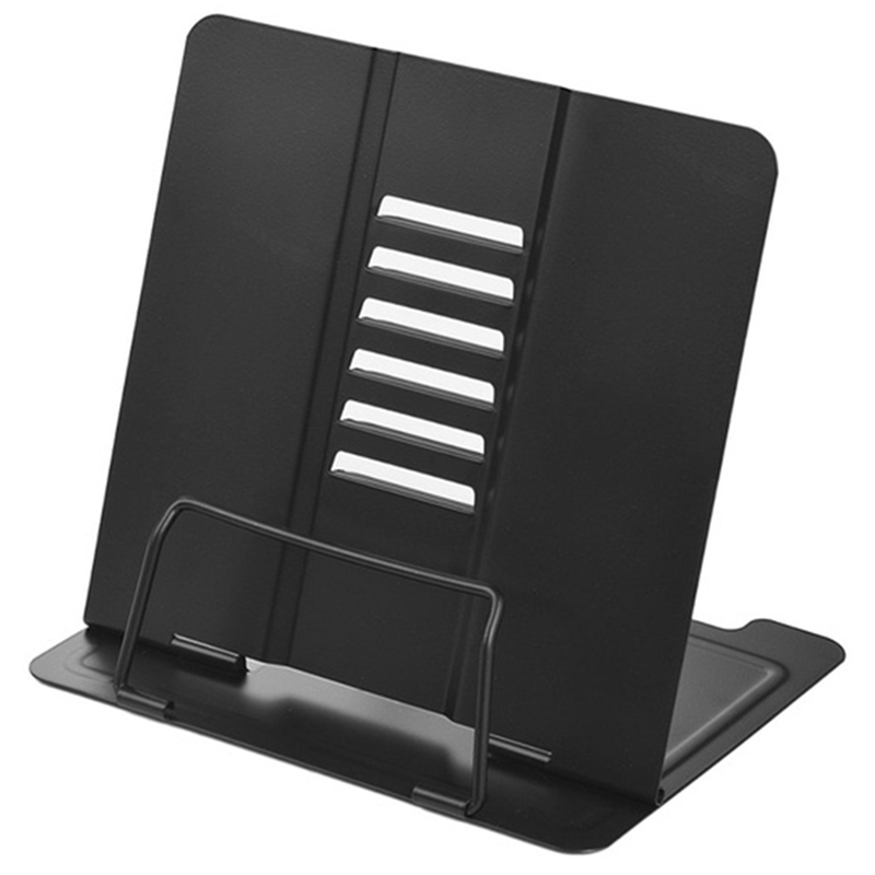 Office/School Bookstand Bookshelf Document Holder Steel Book Holder Adjustable Six Angles Reading Tool for Magazine Document|  - title=