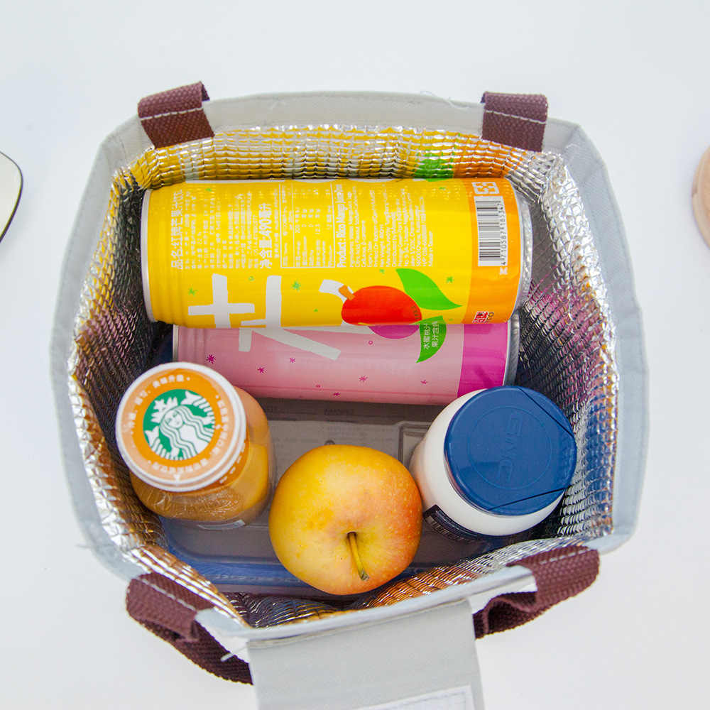פונקציונלי דפוס Cooler נייד תיבת הצהריים מבודד בד שקית אוכל תרמית מזון פיקניק תיקי עבור נשים סטודנטים