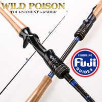 2.1m 2.4m 2.6m Fuji Lure Rod Carbon Spinning Casting Fishing Lake Fishing Rods Carbon Fiber Hard Lure Rod M ML MH Power 10-35g