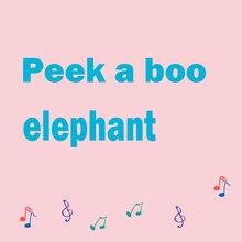 30cm Peek a Boo słoń wypchane pluszowe lalki zabawka elektryczna rozmowa śpiew zabawka muzyczna słoń zabawa zabawa w chowanego dla dzieci prezent