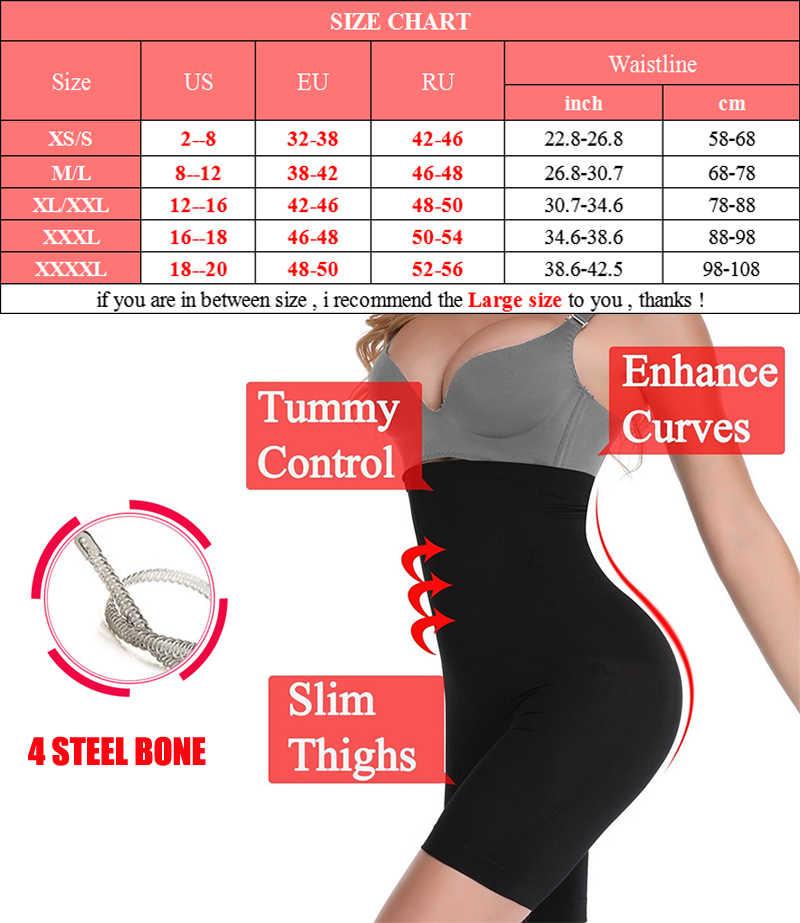 NINGMI Più Il Formato Shapewear Butt Lifter Delle Donne di Alta Vita Trainer Body e Tutine Boxer elasticizzati Che Dimagrisce Biancheria Intima Del Corpo Intimo elasticizzato e contenitivo XS-4XL