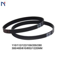 Printer-Parts Synchronous-Belts Timing-Belt Closed-Loop Rubber 2gt 6mm 158 3D 110 112