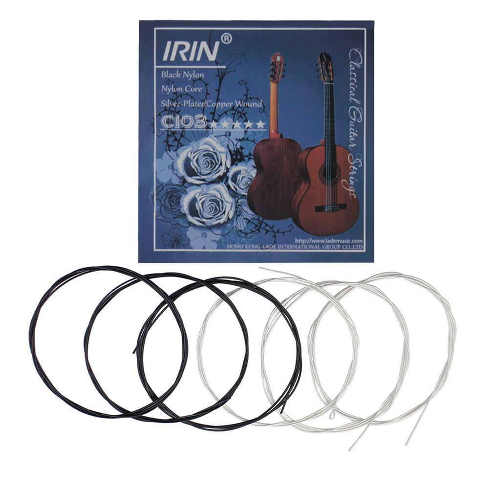 ИРИН Классические гитарные струны набор нейлоновых Медь сплав проволока среднего напряжения стабильное эластичность музыкальный сменный ...