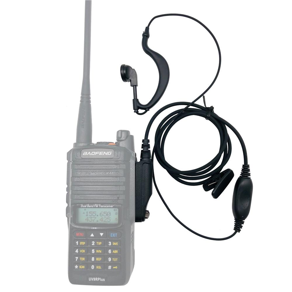 Waterproof Baofeng UV-9R Plus Earpiece For Walkie Talkie HF UHF Transceiver UV9R Plus A58 BF-9700 Two Way Radio Headset Earphone